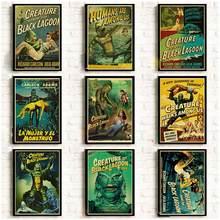 Americano Film Horror Creatura dalla laguna nera Retro Poster di Buona Qualità Della Parete di Poster/autoadesivo Della Parete Della Pittura