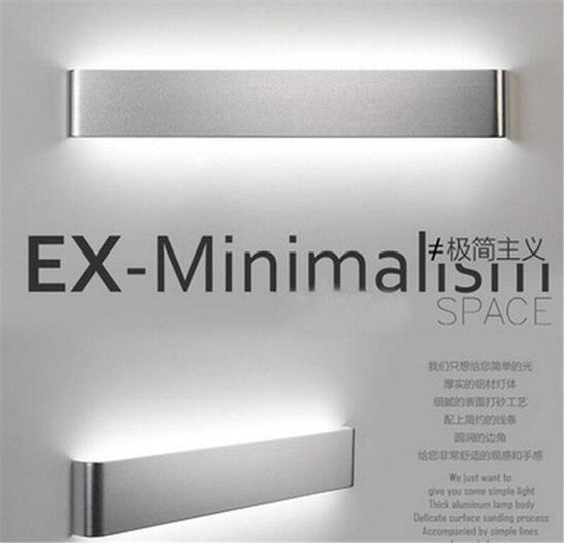ФОТО modern minimalism aluminum 36/48/58cm led wall lamp for bedroom  waterproof led mirror lights for bathroom AC 90-265V A041