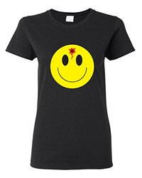 Shirt designer short sleeve fashion font b smiley b font face with bullet hole funny cute.jpg 250x250