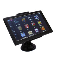7 Inch Car GPS Navigation 8GB Auto With European Map Fixed Frame Touch Screen