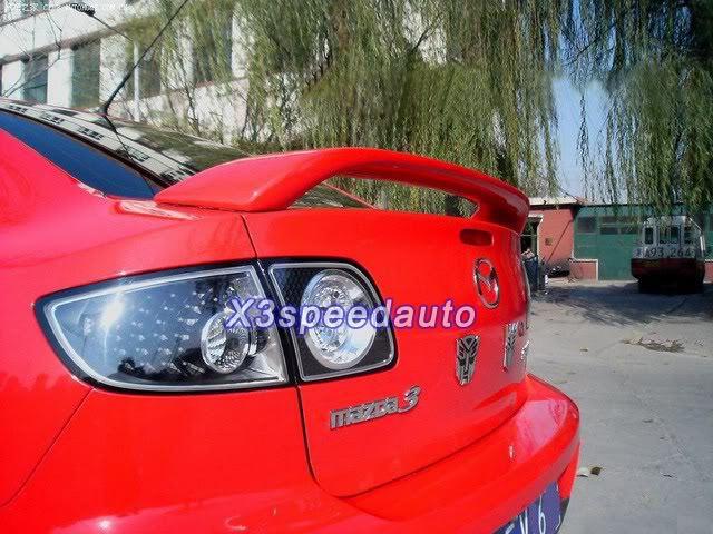 High Quality Primer For 2003-2008 Mazda3 3 4D OEM Factory Style Spoiler