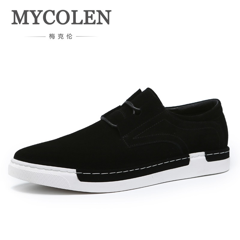 MYCOLEN New Arrival Spring Fashion Leisure Shoes Men Sneaker Black Shoes Luxury Designer Lace Up Canvas Shoes Sapatenis Men 2016 the new leisure men s canvas shoes men outdoor recreational shoe cowboy men s shoes