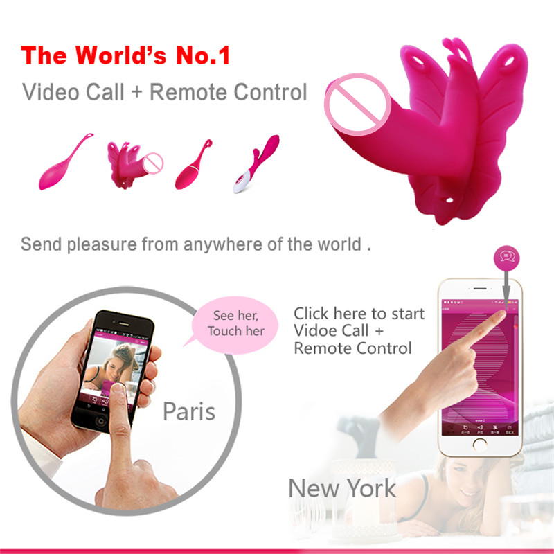 Clitoris G spot Smart phone Sex Toy APP Remote Control 10 Frequency Wearable Vibrator Strap on