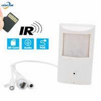 HQCAM 720 P POE's Audio's sd-karte IR Mini-ip-kamera 940nm Nachtsicht IR Kamera IP kamera Indoor Sicherheit CCTV tf-einbauschlitz