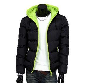 2015 Hombres Chaqueta de Invierno abrigo de algodón silm chaqueta con sombrero keep warm plus tamaño diferente collor patchwork cremallera my038