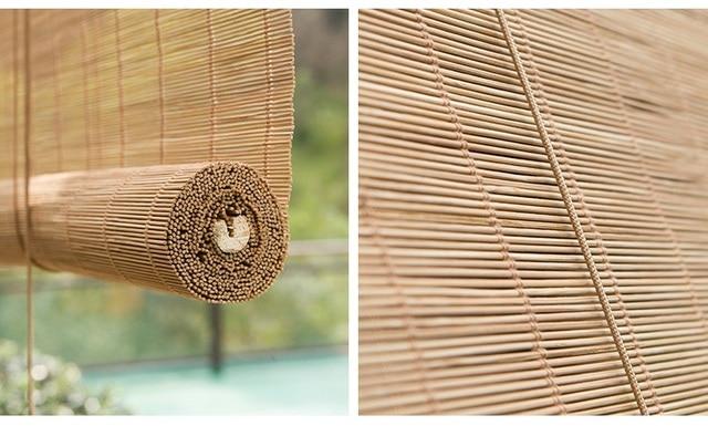 Sunnyhouseware cortinas cortina persiana de bambu sob encomenda de alta qualidade muitos estilos - Persianas bambu exterior ...