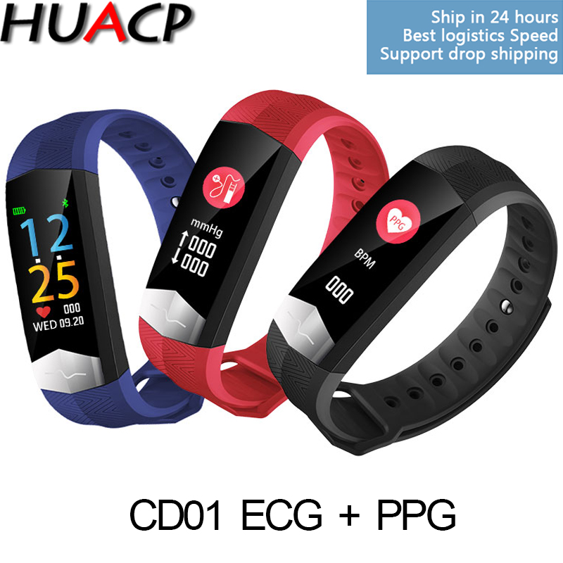 WristBand Pintar R11 ECG PPG Kadar jantung Pengukuran tekanan darah - Elektronik pintar