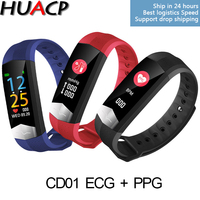 HUACP R11 CD01 COLOR ECG+PPG Fitness Bracelet Blood Pressure HRV Heart Rate Meter Passometer Tracker Waterproof Smart Band