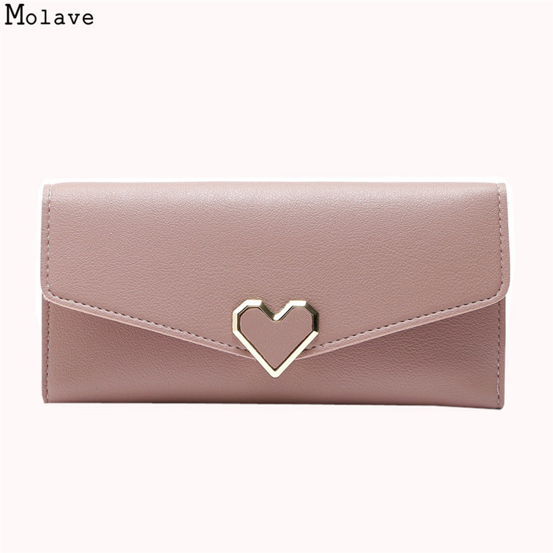 New Long PU Leather Wallets For Women Portfolio Designer Female Love Hasp Clutch Coin Purses Money Bag Cuzdan Wallet se183 women wallet female 2017 coin purses holders 100% genuine leather money bags fashion sheepskin long clutch lace wallets