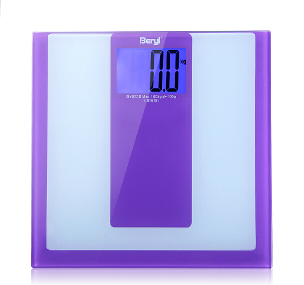 Free Shipping 2014 New Mini Higher Precision Digital Electronic Body Scale Weight LCD Display 180kg Voilet