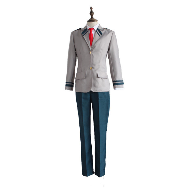 Brdwn My Hero Academia Unisex Izuku Midoriya Shoto Todoroki Cosplay Costume school uniforms suit(top+pant/skirt+tie+shirrt)