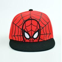 цена на Cap Spiderman Boy Snapback Kid Hip Hop Hat Flat Bill Superhero Embroidered Adjustable Comic Breathable Outdoor Accessory