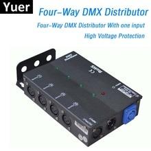DMX512 Light Stage Lights Signal Amplifier Splitter 4 Way DMX Distributor KTV Stage Light Signal Amplifier UK/US/EU/AU Plug