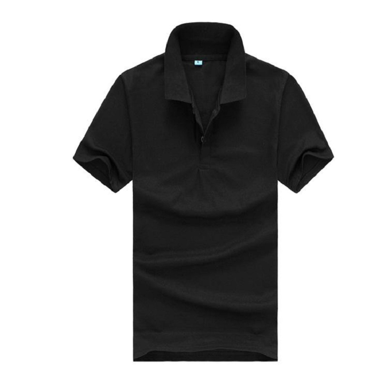 2018 Hot sell Men solid   polo   shirt Clothing short sleeve Tees for summer style casual tops black blue