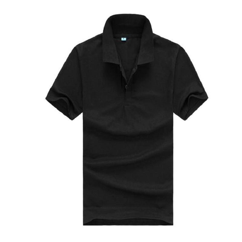 2019 Heißer Verkauf Männer Solide Hemd Kleidung Kurzarm T-shirts Für Sommer Stil Casual Tops Schwarz Blau Kaufen Sie Immer Gut