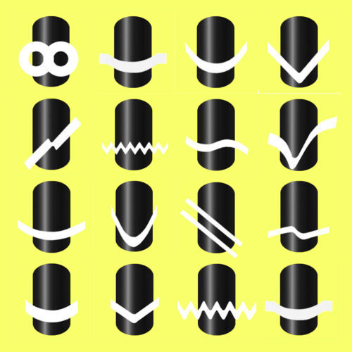 16 Sheets French Nail Tip Guides Stickers Set Strip Nail Art Decoration (Pack of 16) платье french connection french connection fr003ewhuq37