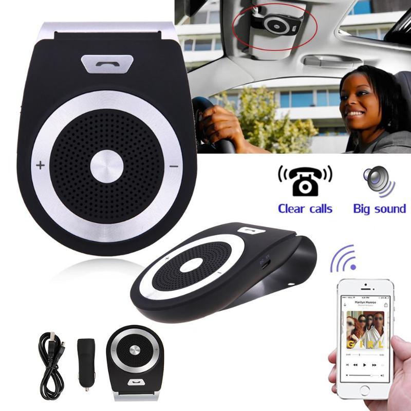 VODOOL voiture pare-soleil sans fil Bluetooth Audio récepteur mains libres appels lecteur de musique Bluetooth voiture Kit pour voitures téléphone haut-parleur MP3