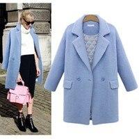 2018 Autumn Winter Womans Woolen Jacket Fashion Plus Cotton Thickened Wool Blend Coat Outwear Girls Loose Cashmere Windbreaker
