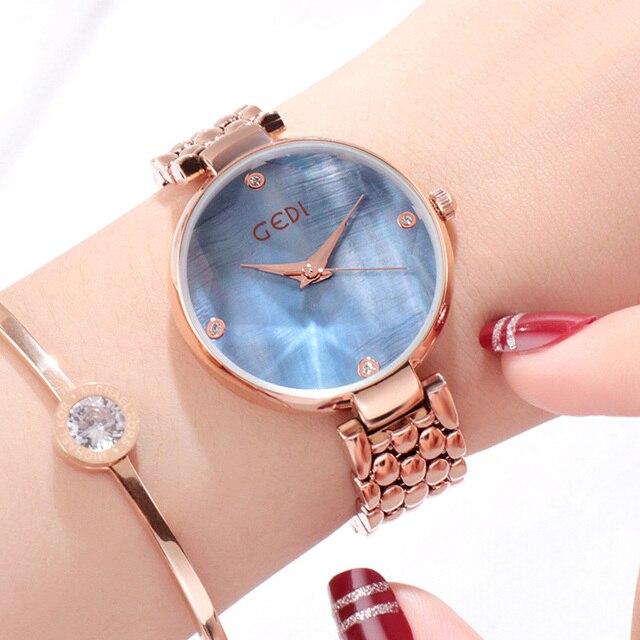 GEDI dress watches exquisite elegant women watch genuine tungsten steel ladies quartz wristwatch waterproof trendy relogio | Fotoflaco.net