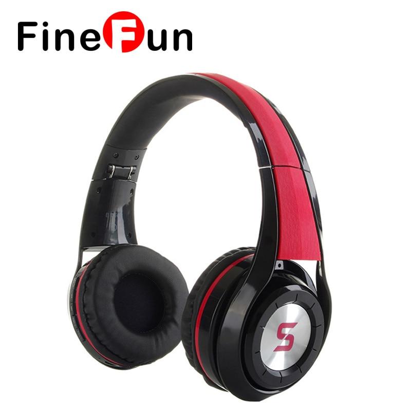 ФОТО FineFun Wireless Stereo Bluetooth Headset Surround Headset Headphone Foldable Headband Microphone Stand for PC Phone