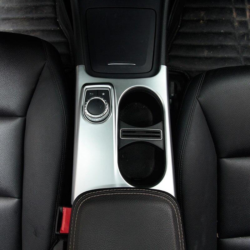 Matte ABS Suporte de Copo Cromo Guarnição Cobertura Para Mercedes Benz A/ABL/CLA Classe C117 W117 W176 X156 2012-17 AMG Car Acessório Para LHD