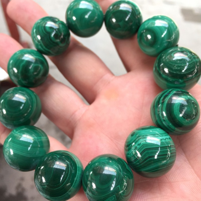 Drop Shipping Natural malachite Round beads Bracelets Hand String Bracelet Bangles Gift for Men's Fashion Stone Jewelry genuine natural leaflets sandalwood bracelets rice buddha beads hand string multi layer wood bracelet fashion jewelry
