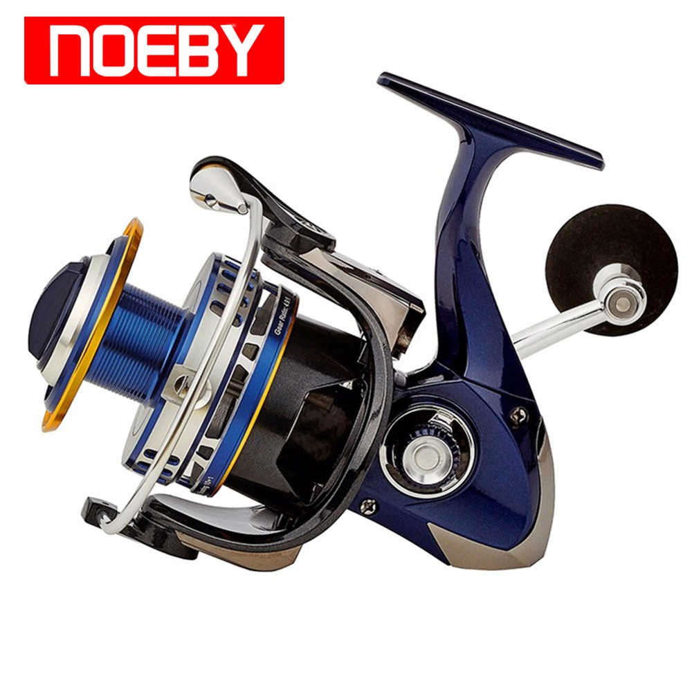 NOEBY Spinning Fishing Reel 6000 7000 10+1BB 4.9:1 Carp Fishing Reel for Freshwater/Saltwater Max Drag 20kg Spinning Wheel Pesca sougayilang carp spinning fishing reels metal spool 9 1bb stainless steel shaft 10 20kg max drag super quality carp reel
