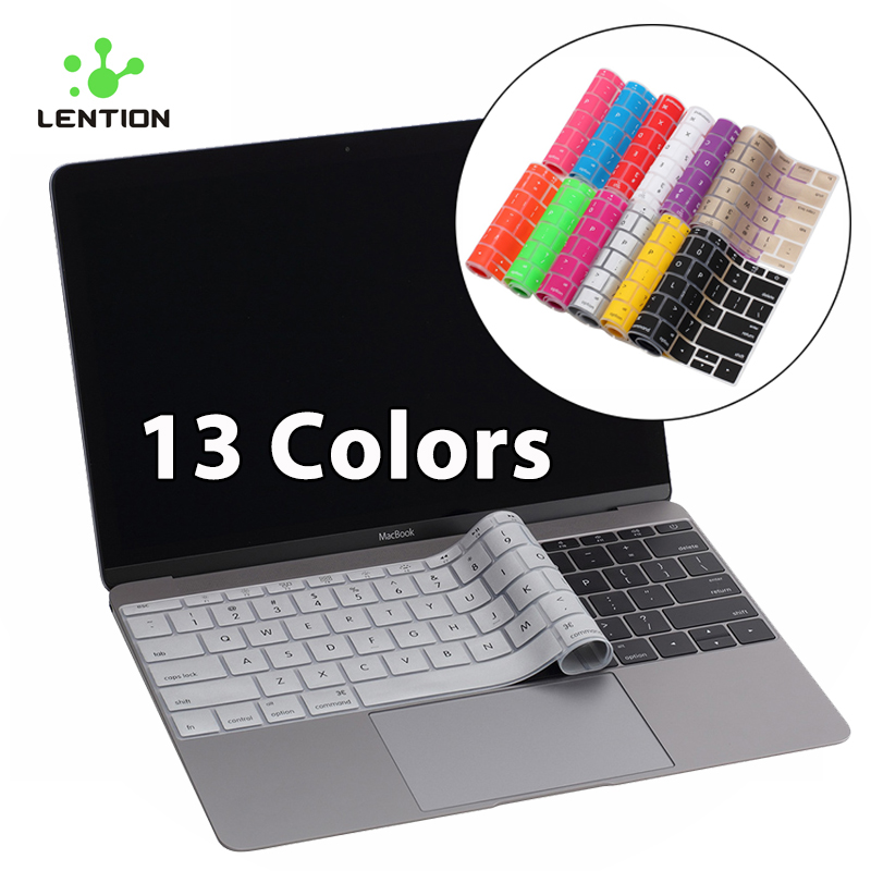 Lention Keyboard Stickers English Letter for Mac Macbook 12
