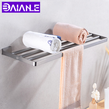 Towel Holder Stainless Steel Towel Rack Hanging Holder Wall Mounted Robe Towel Rail Hanger Storage Shelf Bathroom Hardware недорого