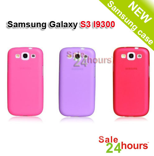 Free ship 10PC/Lot Ultrathin0.5mm Matt Frosting Skins Cases Covers For Galaxy S3 I9300 Samsung Cell Phone Accessories LvX-0196a