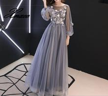 Women 2019 Embroidery O-Neck Lace Up Pleat A-line dress