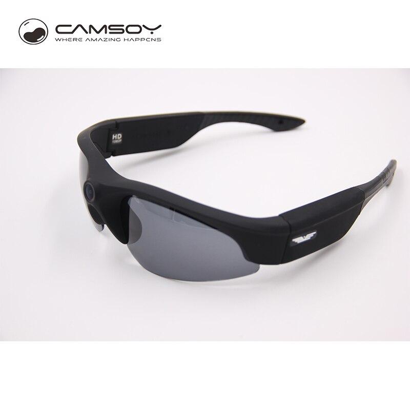 Full HD 1080 P lunettes caméra poids léger UV400 Protection Mini caméra 140 degrés grands Angles lunettes de soleil caméra Action caméra