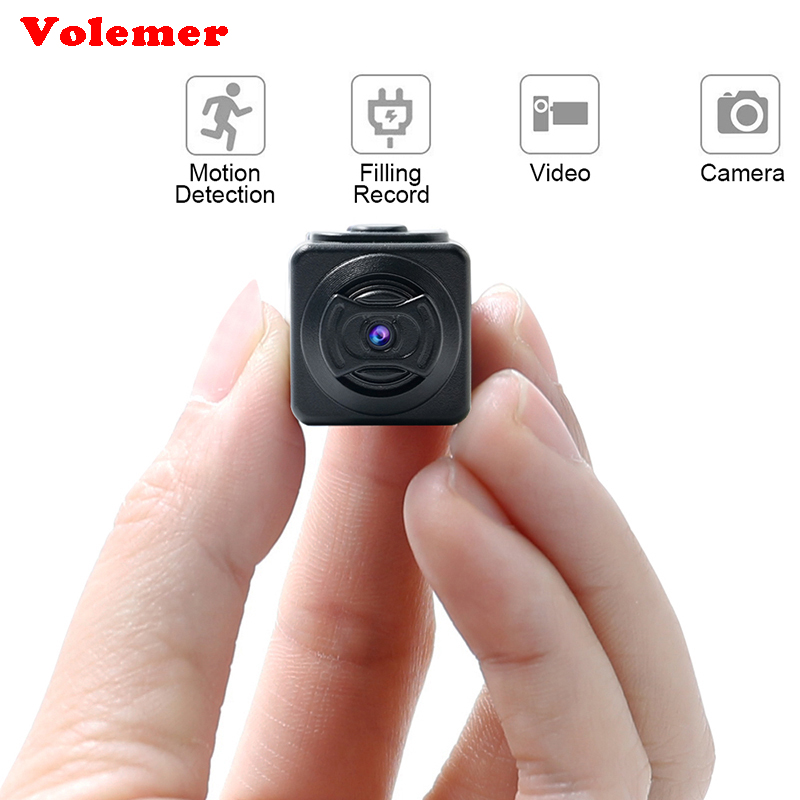 Volemer S5 Full HD 960P Mini Camera Pocket-sized Smallest Camcorders Motion Detection Ultra Cam Night Vision Card Mini DVR Cam