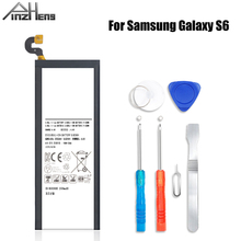PINZHENG EB-BG920ABE Battery For Samsung Galaxy S6 Battery G920 G920F G920i G9200 G9208 G9209 Replacement Batteries With Tools lcd for samsung galaxy s6 g9200 g920 g9208 g9209 lcd screen display with touch digitizer assembly gold white black free shipping