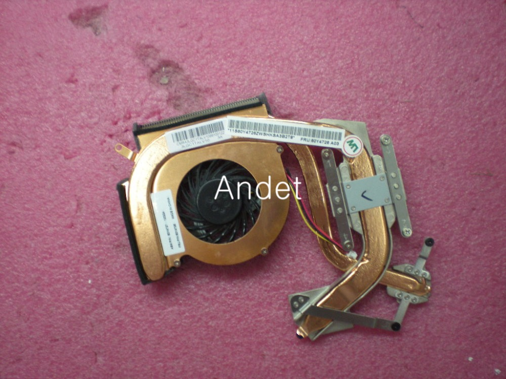New Original for Lenovo ThinkPad SL410 SL410K SL510 SL510K CPU Cooling Heatsink Fan Independent Discrete Graphics 60Y4726 genuine for lenovo thinkpad yoga 14 cpu cooling fan heatsink 00hn607