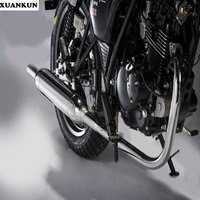 XUANKUN Cafe Racer 125/200 Motorcycles Electroplated Torpedo Exhaust Pipe Muffler Full Range