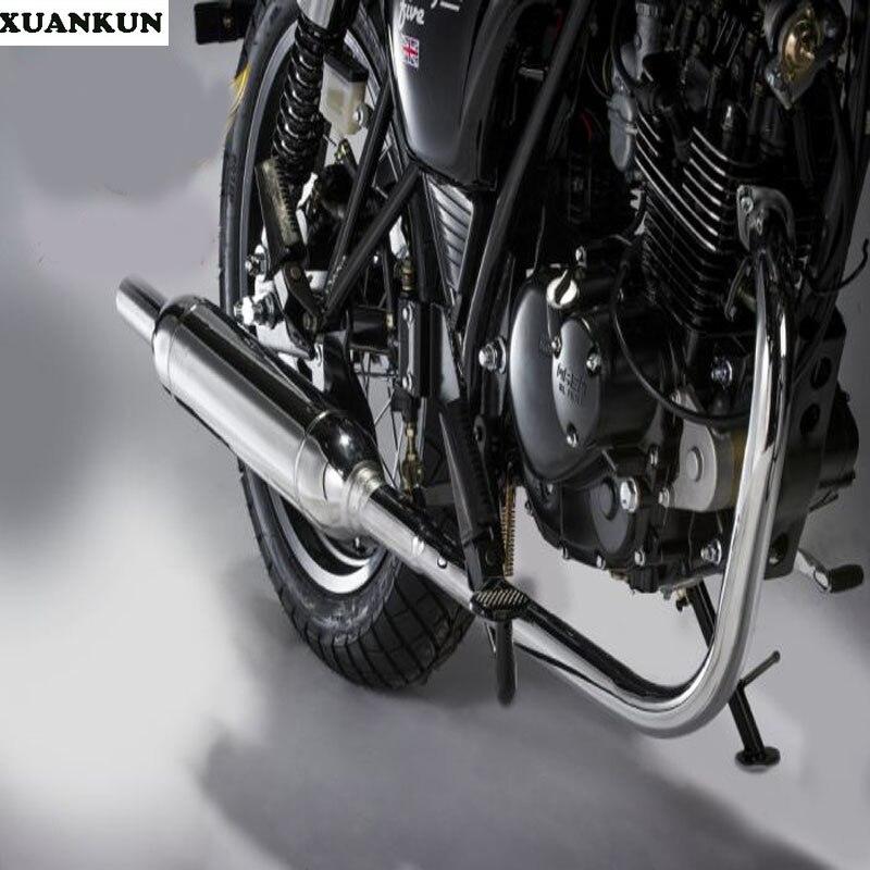 XUANKUN Cafe Racer 125/200 Motos Électrolytique Torpille Tuyau D'échappement Silencieux Gamme Complète