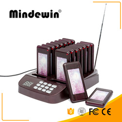 Best Price Mindewin Restaurant Coatser Paging System 16 Calls Wireless Pagers System Queue Management Equipments Fast Food Pager