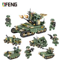 Military Series Tank model building blocks Army Armored trucks soldier figure bricks Compatible  toys children gift