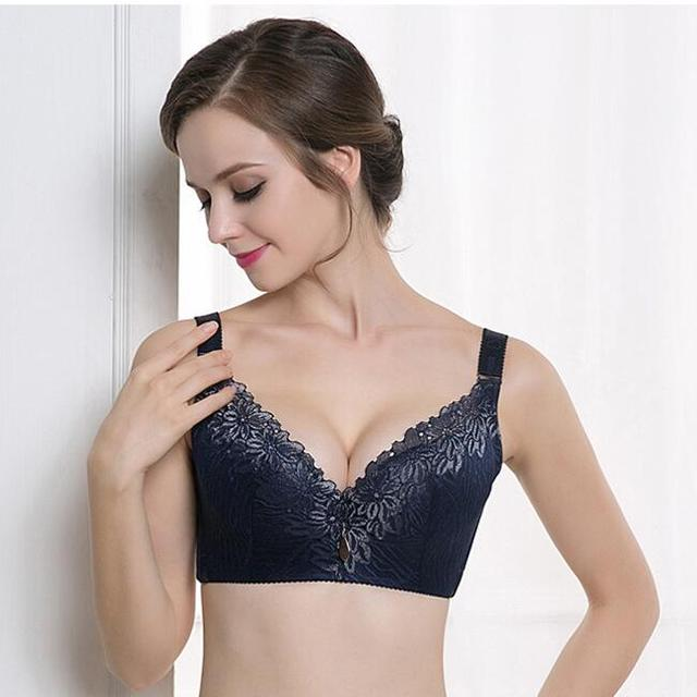 62fc57cf1d D E cup Lace Push Up bra for Plus Size Women 44 46 48 50 Women Large Cup  Bras Brassiere