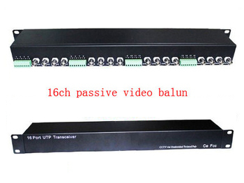 ФОТО Free shipping 16ch passive video balun utp for cctv , bnc for ccd camera . rack mount ,rj45