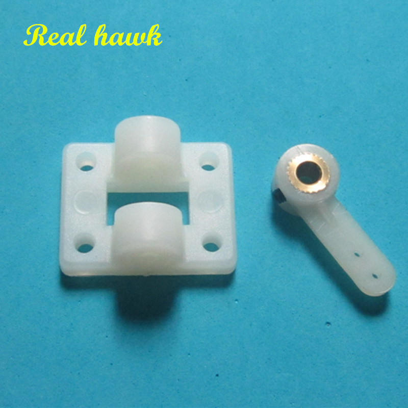 1set D4.1mm RC Airplane Front Wheel Steering Seat Base With Steering Arm DIY Accessories For RC Airplanes Parts