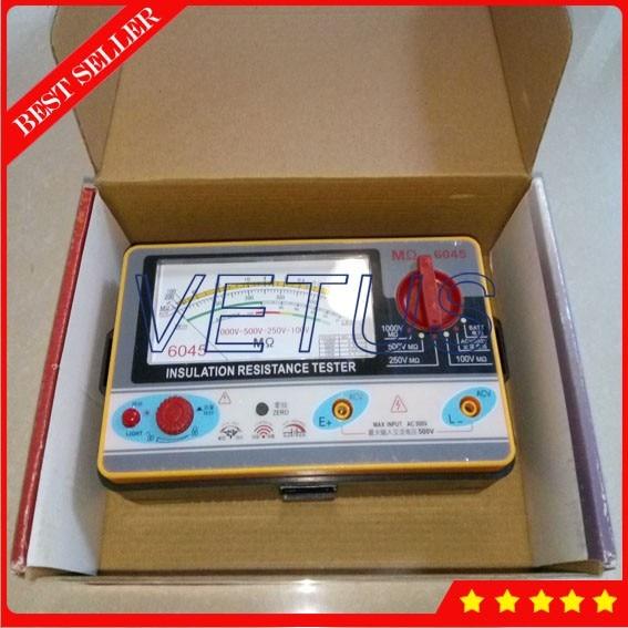 TY6045 Electrical resistivity measuring instruments with Resistance Tester 100V-250V-500V-1000V Pointer Meter Analog Insulation as907a electrical resistivity measuring instruments with voltage range 500v 1000v 2500v
