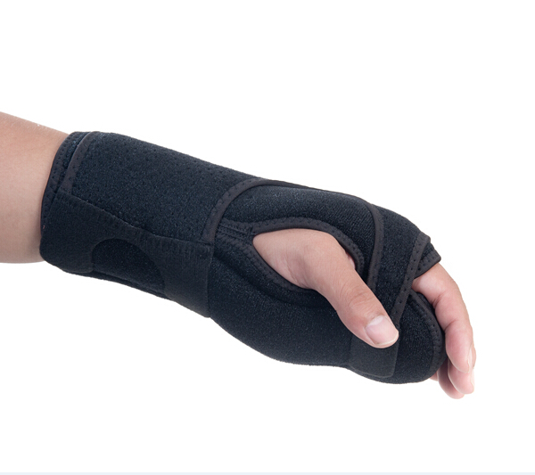 Free Shipping Wrist Orthosis Apoplexy Hemiplegia Bandage Orthopedic Hand Brace Wrist Support Splint Carpal Tunnel Syndrome sport cotton wrist brace wrap support black