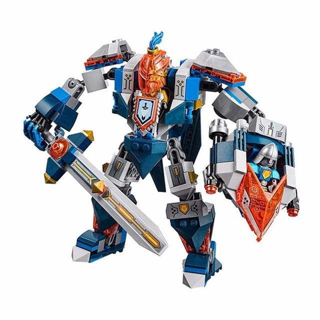 Modelo 14008 compatible con 70327 nexus caballeros del rey mech bloques de construcción modelo juguetes para regalo de los niños