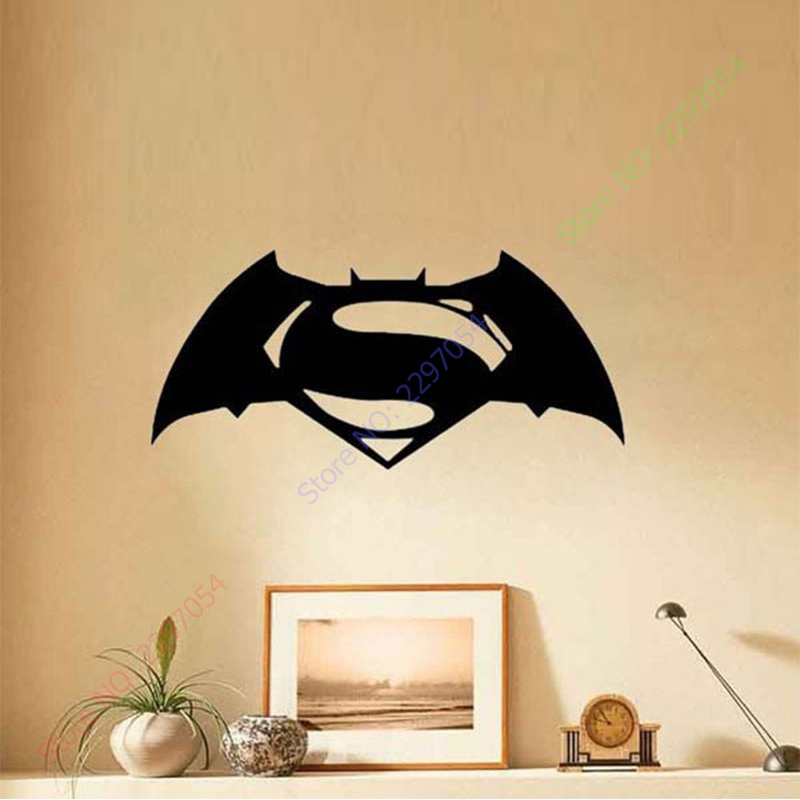 Batman Superman Wall Stickers For Kids Rooms Removable