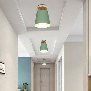 Image 4 - LED תקרת אור ברזל עץ תקרת מנורות נורדי מודרני תקרת סלון חדר שינה קישוט קבועה מסדרון מטבח