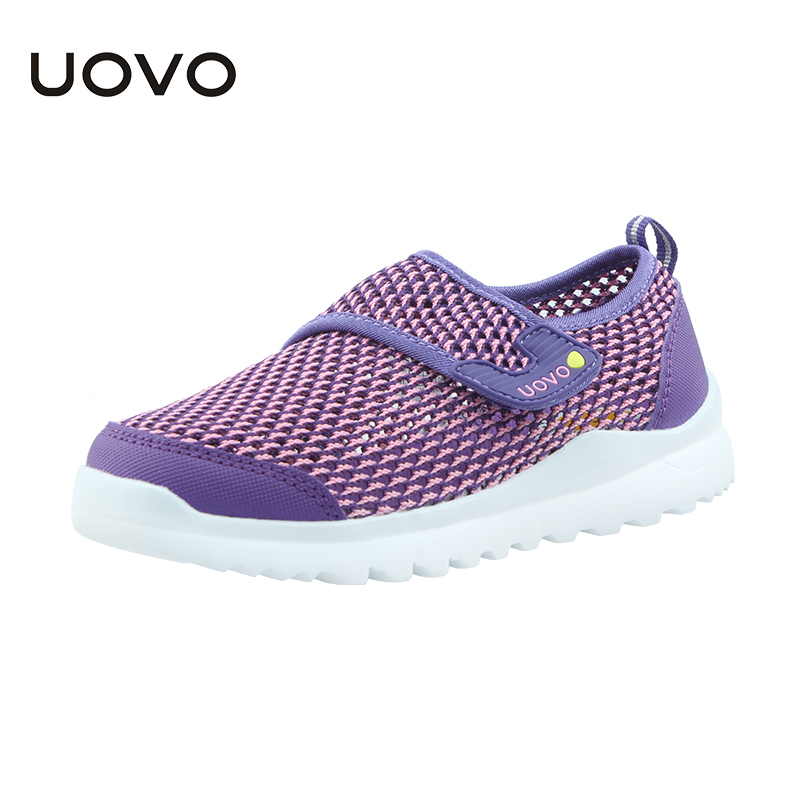 Uovo New Mesh Shoes For Spring Summer Casual Sneakers Boys Girls Light-weight Breathable Running Shoe Chaussure Sport Enfant 2017 new children led sport shoes breathable sneakers orthopedic unisex anti skid light shoes kids casual shoes for girls boys