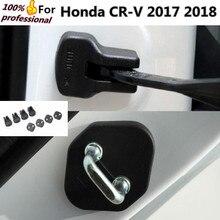 De calidad superior para Honda CRV CR-V 2017 2018 coche óxido impermeable Puerta dispositivo de Límite de teclas de bloqueo hebilla De Plástico cubierta panel