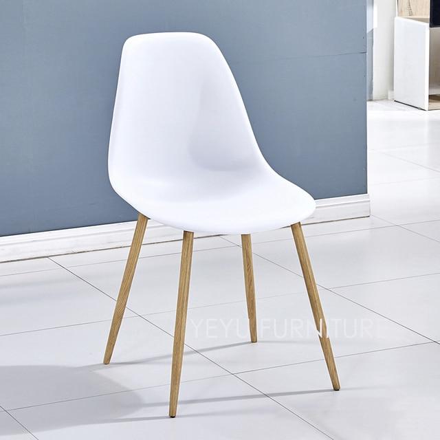 Minimalistische Moderne Ontwerp metalen staal been plastic seat ...